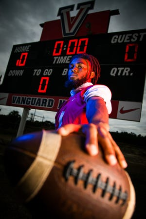 Vanguard's Trevonte Rucker is this year's Ocala Star-Banner Overall Football Player of the Year. Rucker played wide receiver and safety for the Knights and is committed to playing for Jackson State next Fall.