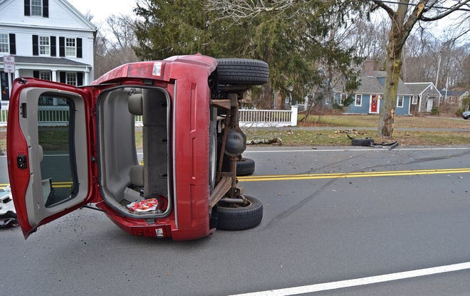 A driver crashed into a tree on Jan. 21, 2021, and was transported to an area hospital for injures.