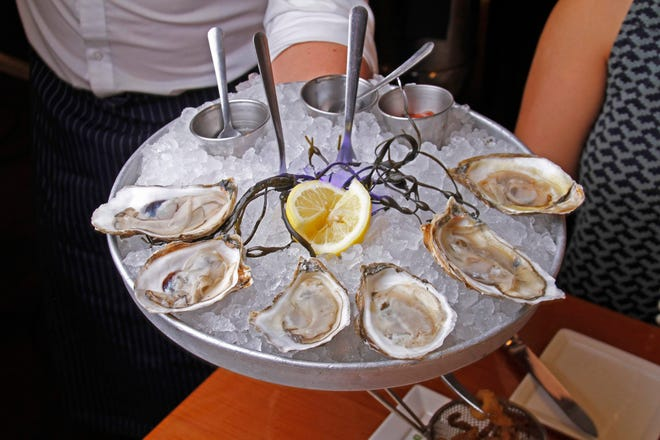 Oysters often are served with various condiments at PB Catch.