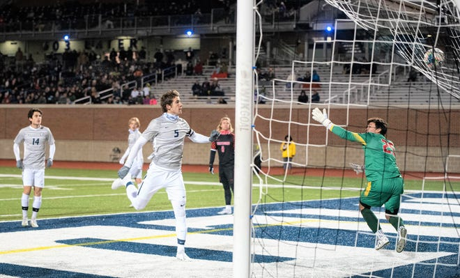 Former University of New Hampshire men's soccer standout Josh Bauer (5) was selected by Atlanta United in the second round of Thursday's MLS SuperDraft.