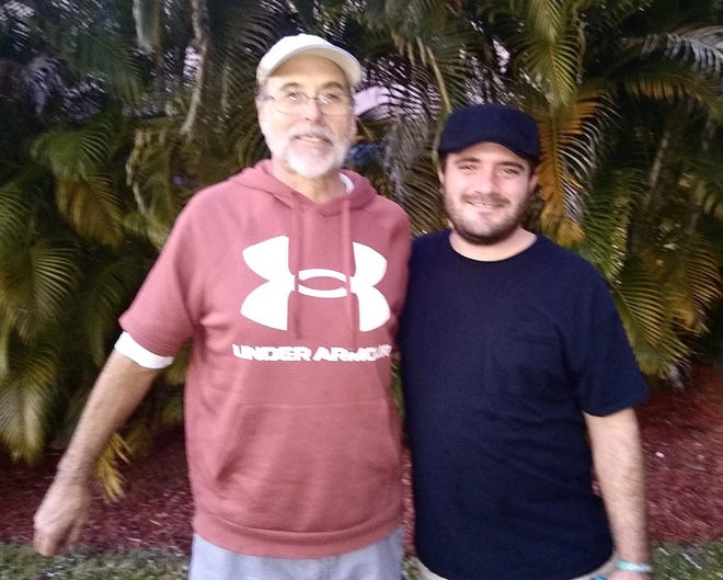 Mark Johnson and his son Matthew Anderson were struck by lightning June 7 on Jupiter Island. Photo courtesy Mark Johnson