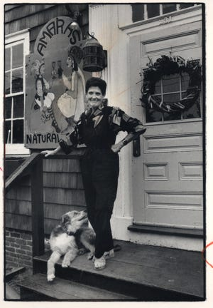 """Elizabeth """"Amara"""" Holmes in 1984 at her  Amara's Restaurant  on Wickenden Street in Providence. She ran the restaurant from 1978 til 1987 when she became ill."""