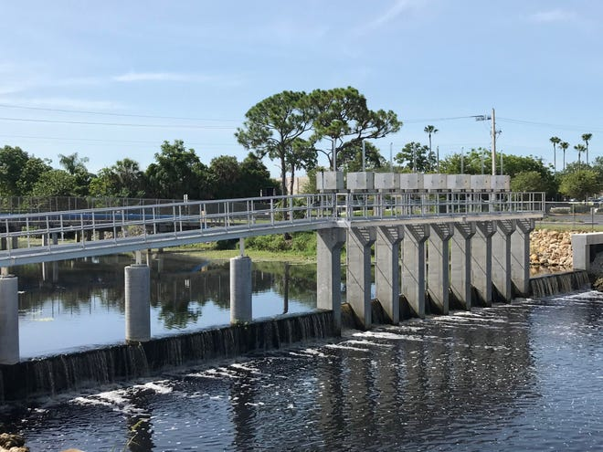Water Control Structure 106 on the Cocoplum Waterway opened earlier this year. The structure, which cost $2.47 million, is the last structure that separates the freshwater canal from the tidally influenced Myakkahatchee Creek.