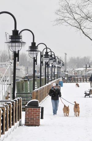 This StarNews file photo shows snow from several years ago in the Port City.