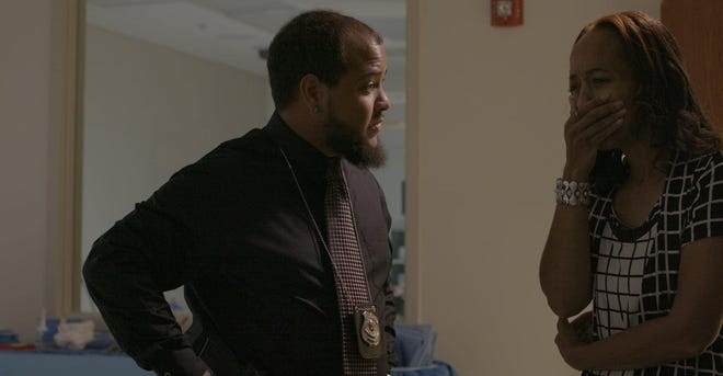 """Two of the actors in """"Stop the Killing,"""" a new short film from Wilmington artists Nakia Hamilton and Jay James, that addresses the recent spike in deadly shootings locally. It was made in conjunction with the WPD, NHRMC and other area groups."""