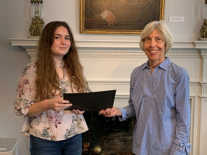 New Bern Historical Society Scholarship Committee Chair, Mary Parrish; and 2020 Marks Scholar Kimberly Cusack. [CONTRIBUTED PHOTO]