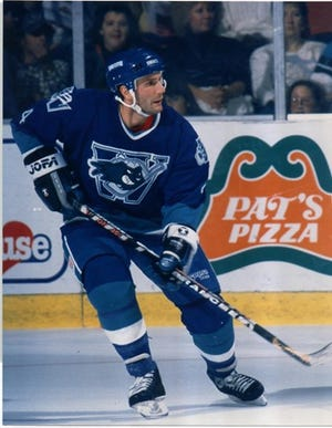 Dave Baseggio was a defenseman with the Worcester IceCats during their inaugural season.