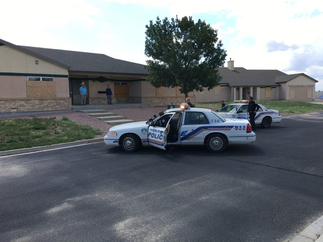 Officers of the Pueblo Police Department are seen in this file photo arriving at a training scene. Their first goal was to set a boundary and maintain distance at the start of an altercation.