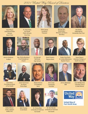 2021 United Way of Fort Smith Area board of directors.