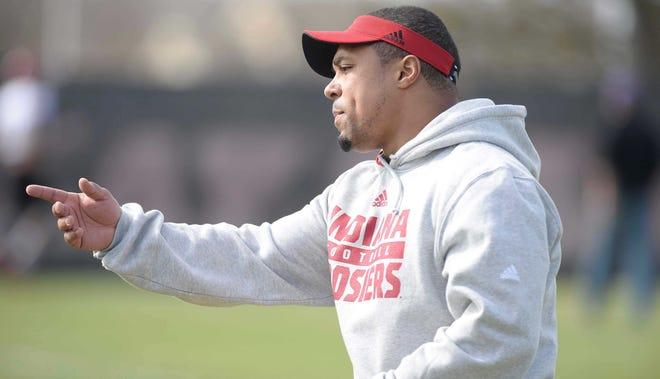 Michigan running backs coach Mike Hart