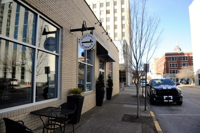 The Bargetown Market has a Main Street address but actually faces Fourth Street.