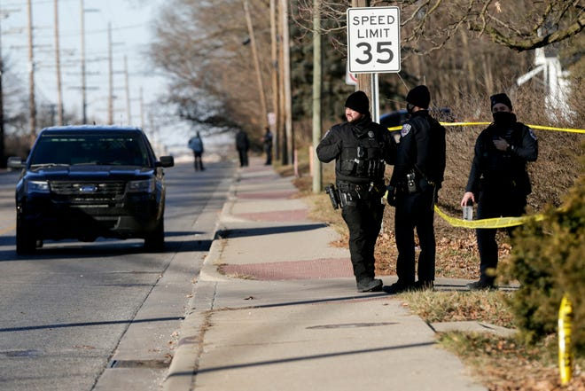 Lafayette police work the scene of a homicide on the 2400 block of Union Street, Friday, Jan. 22, 2021 in Lafayette.