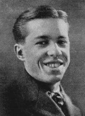 """John A. """"Jack"""" Stover (1905-1980) is shown here as a senior in 1925 at LHS. He was president of the class, a cheerleader and first editor of the high school's first newspaper."""