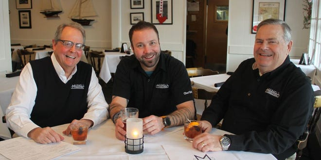 Michael's House of Prime will host a dinner for four days in February at the Petite Chef in Dousman. Pictured from left is Michael's co-owner David Buckley, executive chef Erik Hyslop and co-owner Rick Buckley.