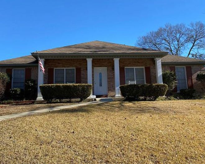 One freshly-painted Woodmere home at 6708 Woodglen Court is for sale for $169,900 and provides three bedrooms and two bathrooms within 1,952 square feet of living space.