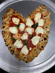 Novino's heart-shaped pizza