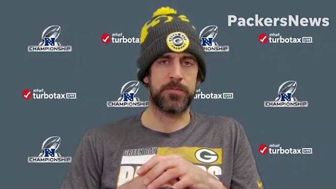 Packers quarterback Aaron Rodgers discusses his relationship with former GM Ted Thompson, who passed away on Wednesday night.