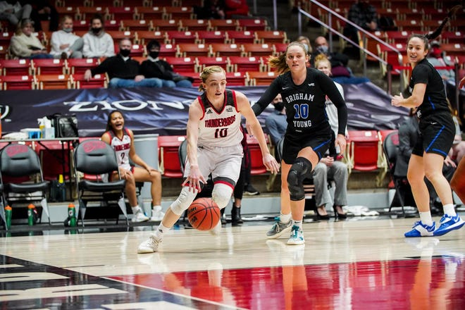 Southern Utah forward Liz Graves (10) has been one of the best players in the Big Sky in what could be her final season as a college basketball player.
