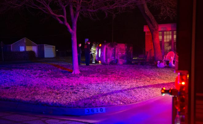 Wichita Falls Police worked the scene of a roll over accident Thursday night on York Street.