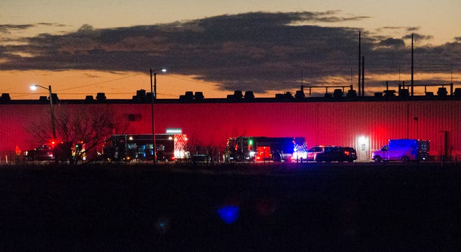Wichita Falls Firefighters responded to a reported hazmat Thursday night at a large facility on Central Freeway near Bacon Switch Road.