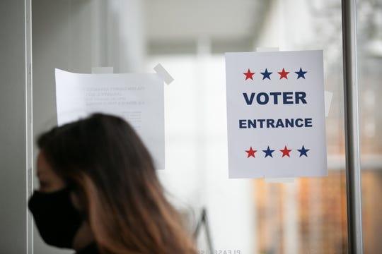 Polling station on Dec. 14, 2020, in Atlanta.