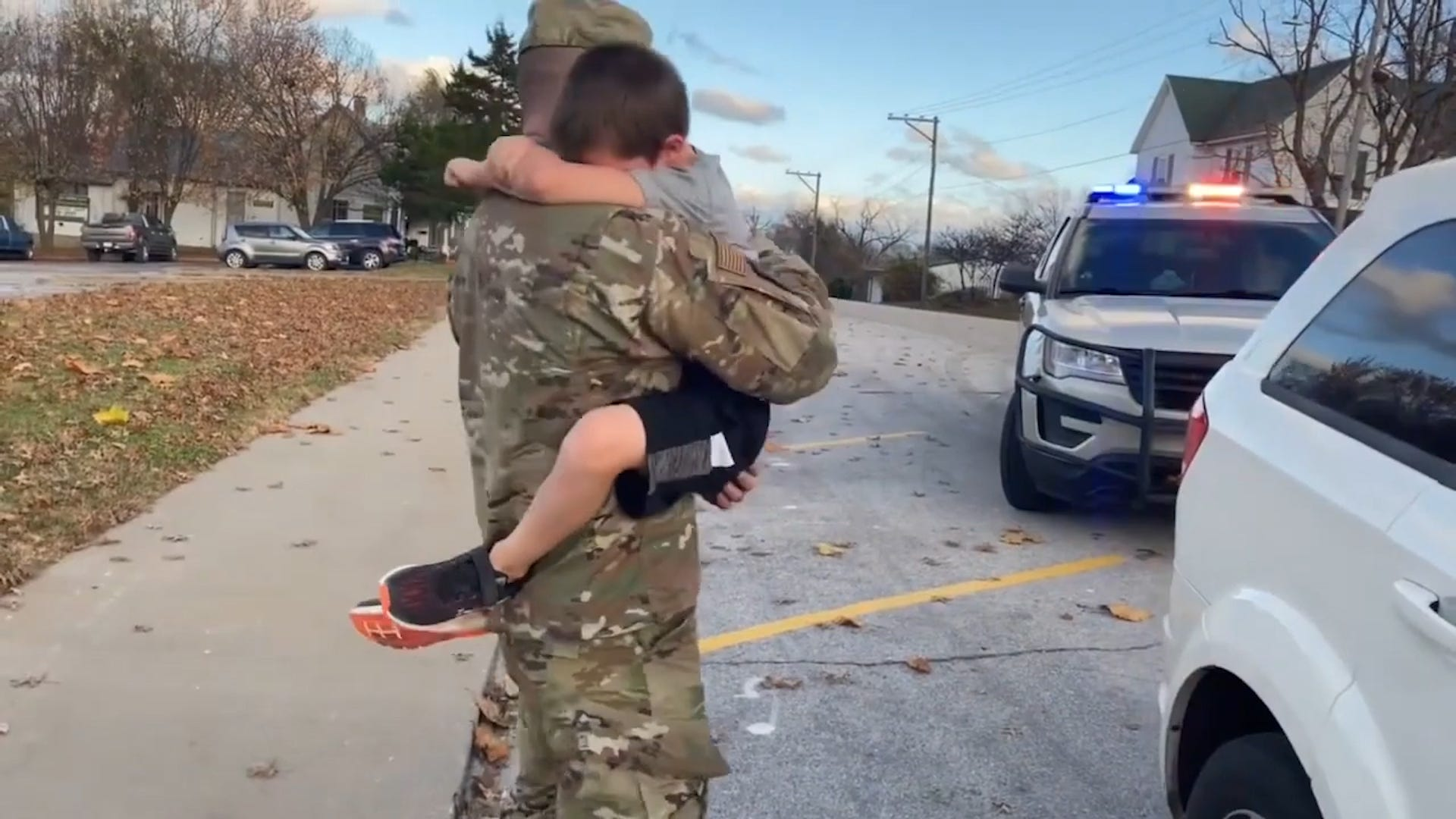 This traffic stop turned out to be a sneaky surprise homecoming