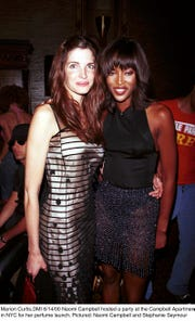 Naomi Campbell and Stephanie Seymour pictured on June 14, 2000.