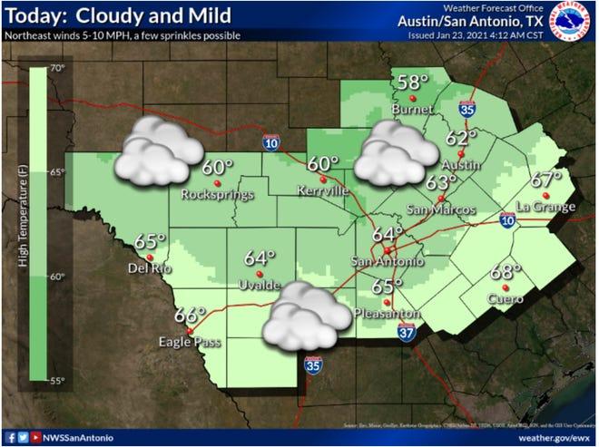 Saturday forecast map