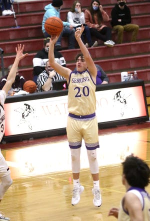 Sebring's Dylan Johnson scored 18 points to lead Sebring over East Canton on Friday night.