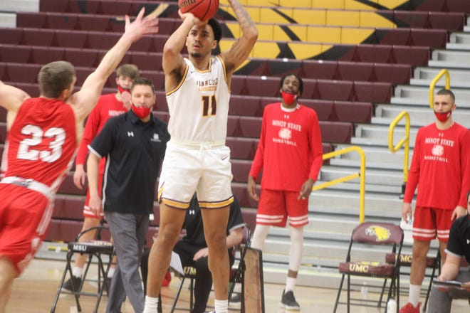 Ethan Channel scored 19 points in Minnesota Crookston's 72-61 loss to Minot State Friday night.