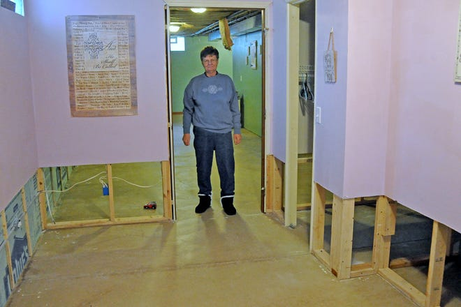 Orrville resident Pat Lehman, 74, did not know she would have to redo her finished basement at her own expense after a clog in a city sewer line caused a backup of sewer water into her home.