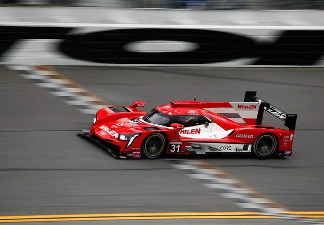 Felipe Nasr drives the NO. 31 car to the Motul Pole Award 100 at the Roar Before the 24 at Daytona International Speedway, Saturday, Jan. 23, 2021.