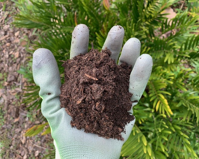 Rich soil contains a healthy mix of nutrients.