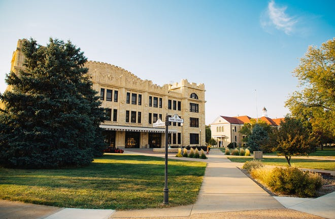 Sheridan Hall on the Fort Hays campus