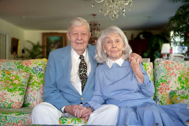 Al and Pat Fix, seen at their home in Palm Beach, will celebrate their 70th wedding anniversary today. MEGHAN McCARTHY/Palm Beach Daily News