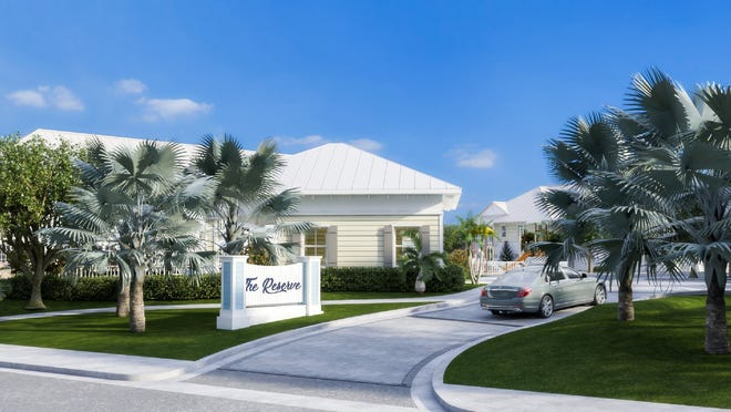 Rendering shows the planned appearance of The Reserve at Tequesta townhome project along U.S. Highway 1. [IMAGE PROVIDED BY VILLAGE OF TEQUESTA]