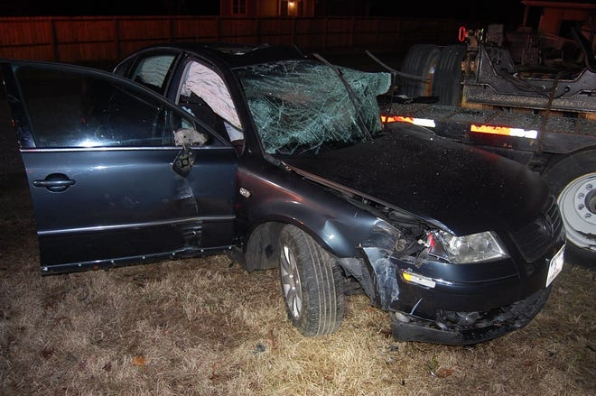 A Petersburg man died in this early-morning crash on Boydton Plank Road in Dinwiddie Friday, Jan. 22, 2021.
