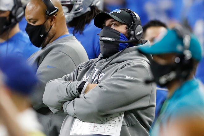 Detroit Lions head coach Matt Patricia, shown in a Nov. 26 game against the Houston Texans, is rejoining the Patriots coaching staff, according to reports.
