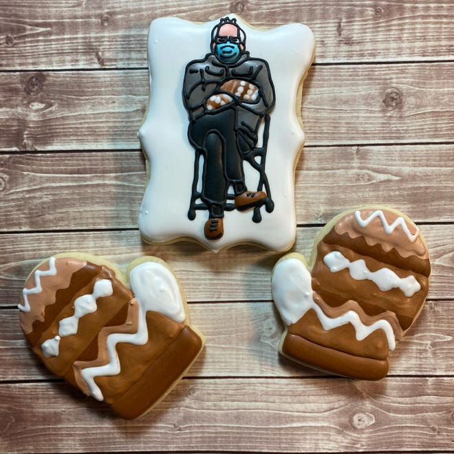 """The """"Berrr It's Cold Outside"""" cookie set from Little Chunk of Goodness"""