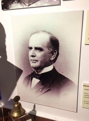President William McKinley, as soon as he was sworn in as the nation's chief executive in March of 1897, began working to address the issues that faced him late in the 1800s. The nation's 25th president is pictured here in a display in the McKinley Gallery at Wm. McKinley Presidential Library & Museum.