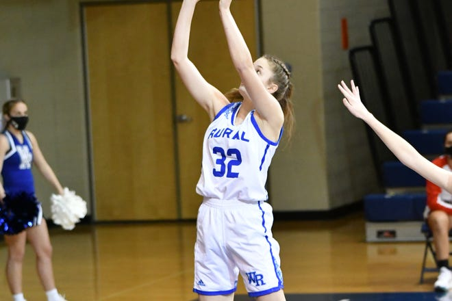 Washburn Rural's Brooklyn DeLeye scored 19 points, including nine in a decisive second quarter to lead the Junior Blues to a 58-35 win over Emporia on Friday.