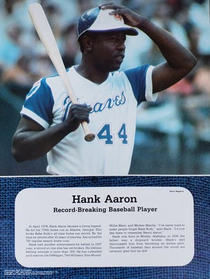 "Baseball legend Hank Aaron was featured in ""20th Century Black Personalities,"" first published in the 1970s by Weber Costello, a subsidiary of Harcourt Brace Jovanovich. The Atlanta Braves organization announced Friday that Aaron had died at age 86."