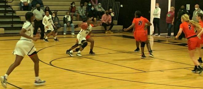Buchholz played Trenton in girls basketball Friday in Gainesville.