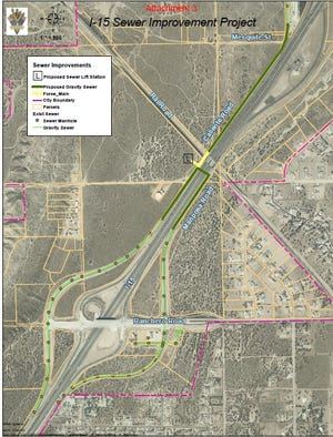 The installation of a sewer line has forced the closure of  Mariposa road near the Ranchero Road Interchange in Hesperia.