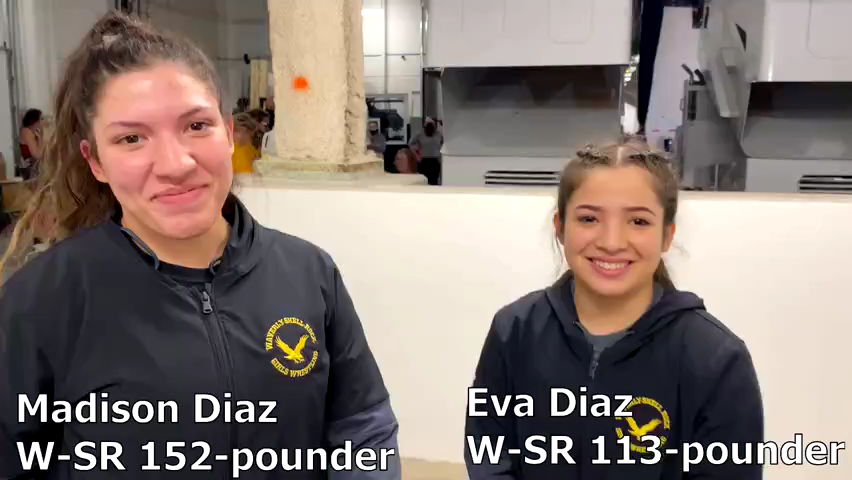 Madison and Eva Diaz are pinning machines for Waverly-Shell Rock's girls' wrestling team