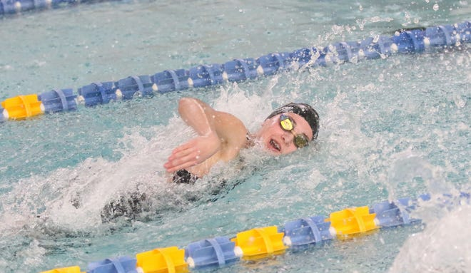 Ontario's Brienne Trumpower was named the 2020-21 Mid-Ohio Athletic Conference Girls Swimmer of the Year.