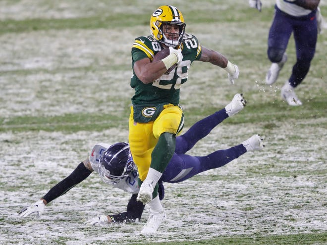 Green Bay Packers running back punishes other things besides defenders.