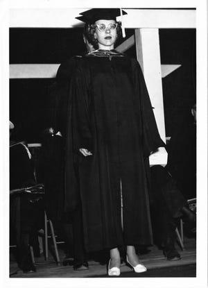 Carol Walker, NMSU's first female Ph.D. received her doctorate in mathematics in 1963.