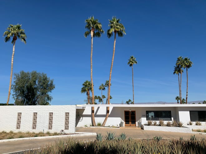 One of the Richard A. Harrison-designed homes on Feather Trail of Silver Spur Ranch seen today.