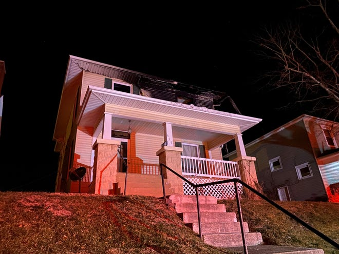 A fire broke out in the upstairs apartment of 511 McConnell Ave. No one was home at the time.